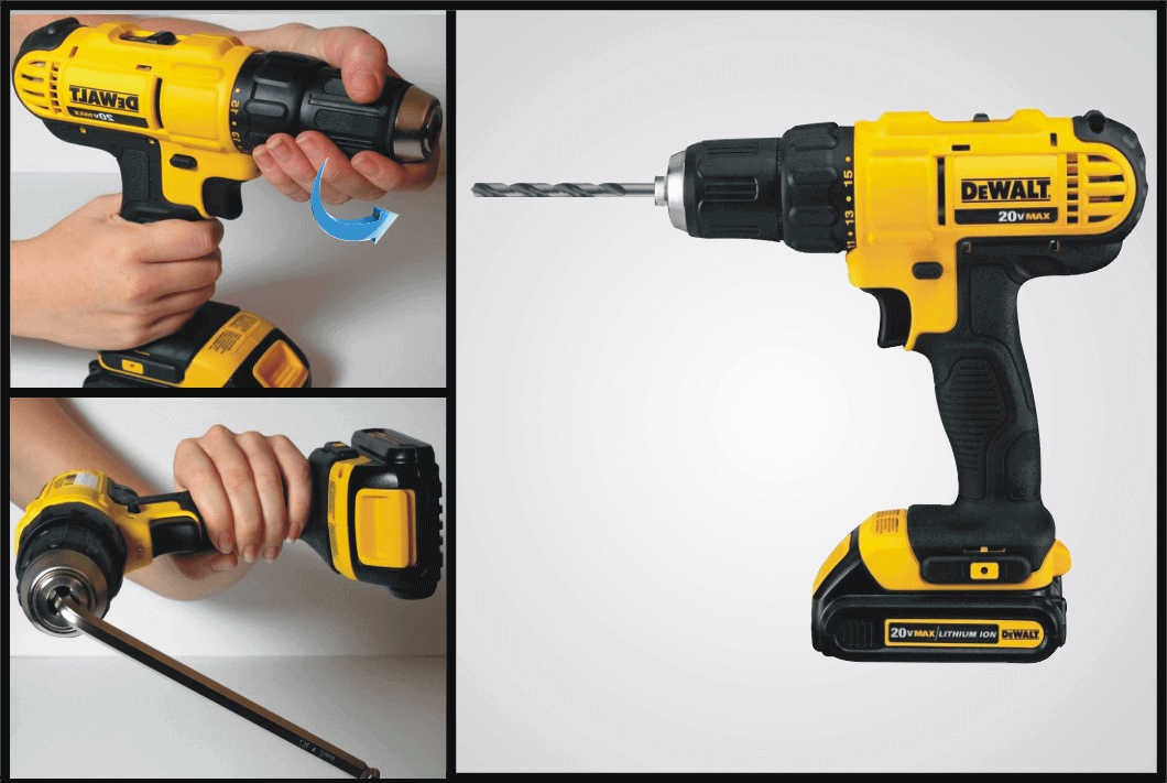 changing-drill-bit-of-key-to-chuck-drill
