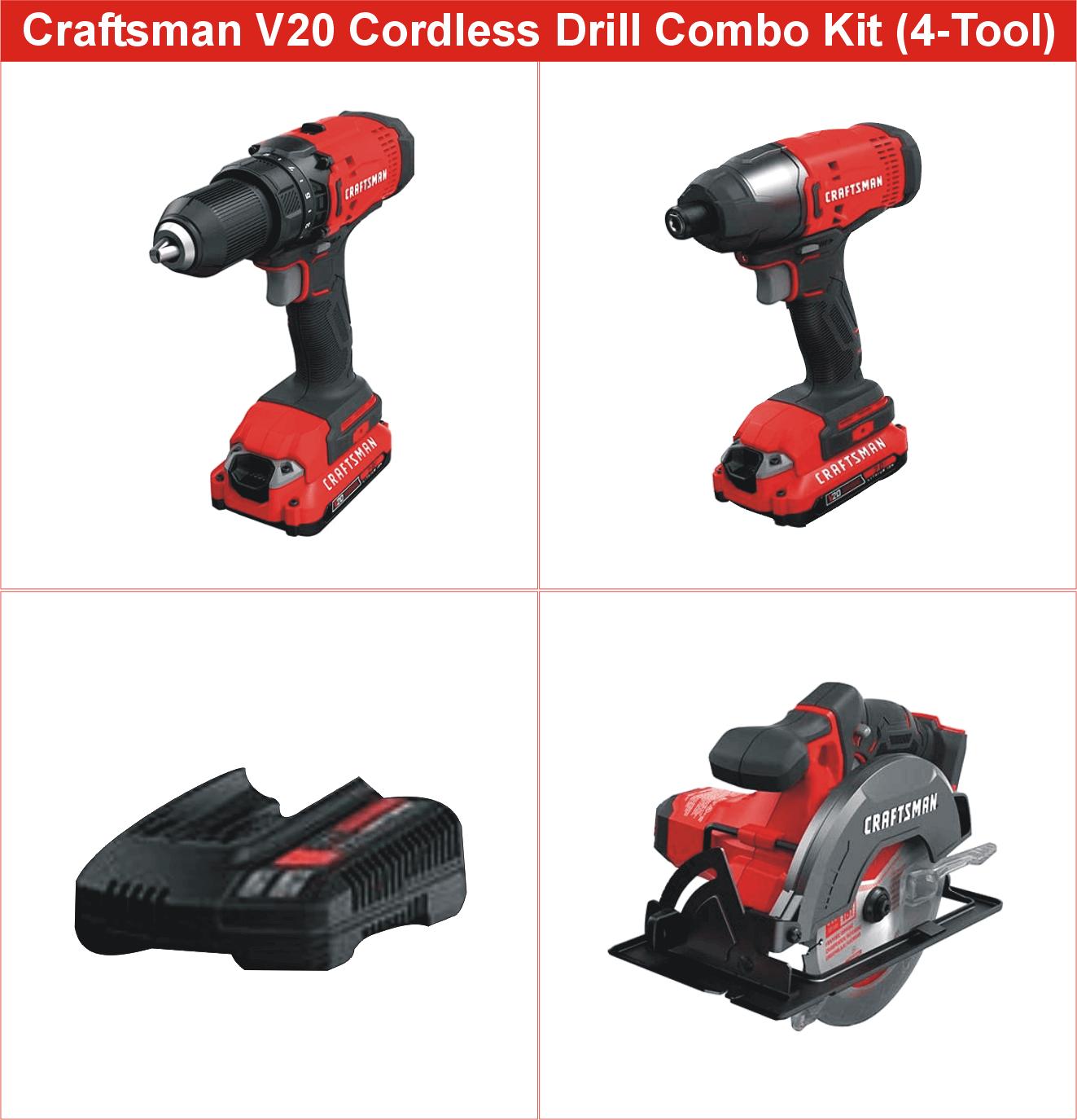 CRAFTSMAN V20 Cordless Drill Combo Kit
