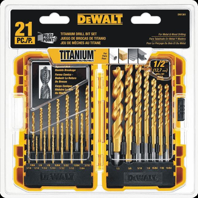 DEWALT DW1361 21 Pc. Drill Bit Set