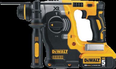 DEWALT DCH273P2 20V SDS Rotary Hammer Drill Kit with 5-Ah Batteries