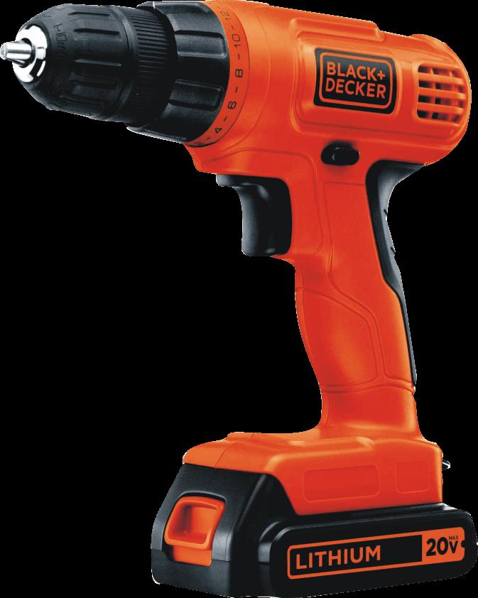BLACK+DECKER (LD120VA) 20V MAX Cordless Drill + 30-Piece Accessories