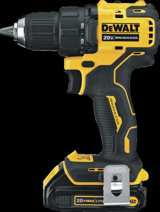 DEWALT (DCD708C2) 20V MAX Compact Cordless Drill / Driver Kit