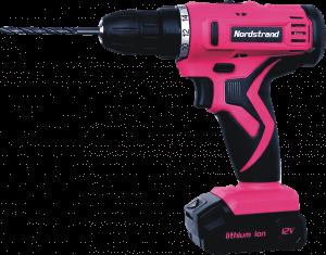 nordstrand-pink-12v-cordless-drill-driver-kit-for-women